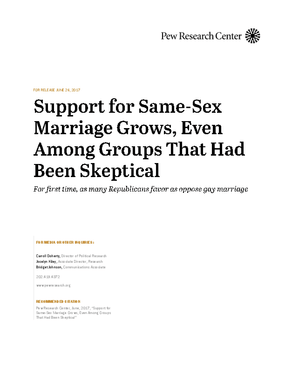 Support For Same-Sex Marriage Grows, Even Among Groups That Had Been Skeptical