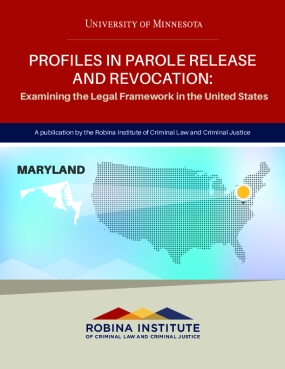 Profiles in Parole Release and Revocation Maryland