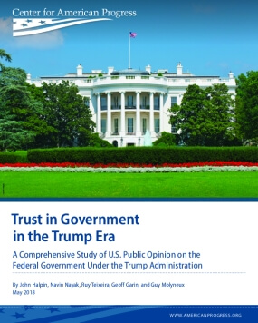 Trust in Government in the Trump Era: A Comprehensive Study of U.S. Public Opinion on the Federal Government Under the Trump Administration