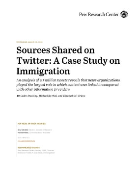 Sources Shared on Twitter: A Case Study on Immigration