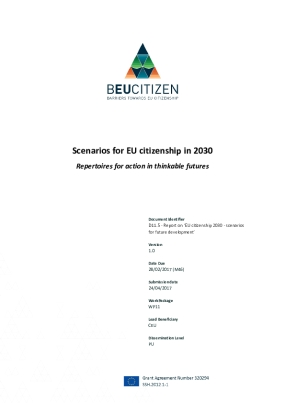 Scenarios for EU Citizenship in 2030. Repertoires for Action in Thinkable Futures