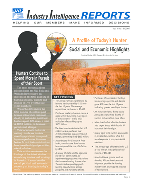 A Profile of Today's Hunter - Social and Economic Highlights