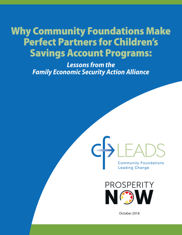 Why Community Foundations Make Perfect Partners for Children's Savings Accounts